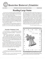 Holiday Newsletter 2001