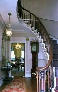 Here's a peak at the foyer and dining room in the 1845 Doric House Museum in Flemington, now open for tours on the second and fourth Saturdays from April through October. Tours start promptly on the hour at 1:00, 2:00 and 3:00 pm. There is no charge.