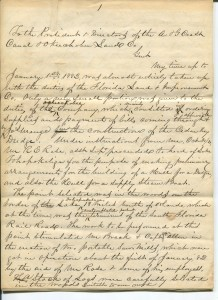 Ingham Coryell Correspondence 1884