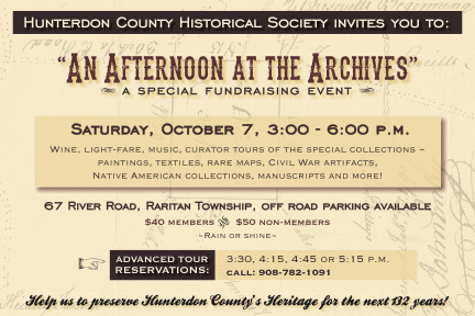 October Events: An Afternoon at the Archives