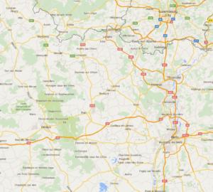 Verdun Area CLICK map to enlarge