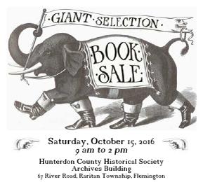 HCHS Annual Book Sale: Saturday, October 15!