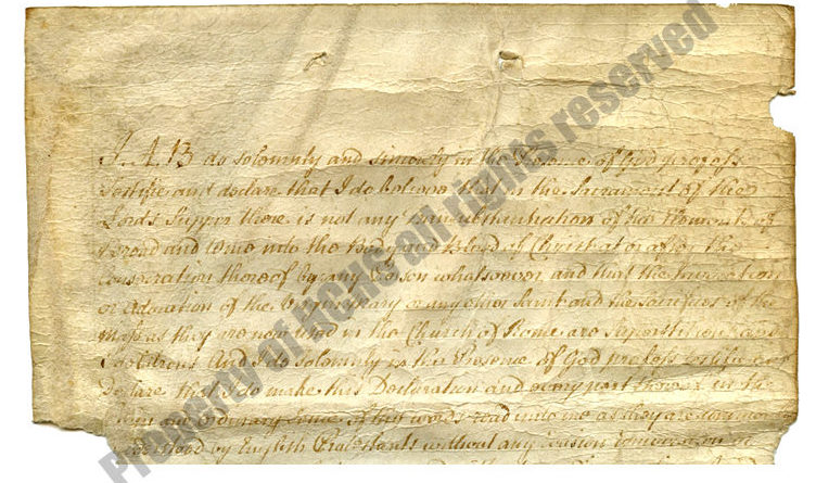 History Re-rediscovered: Hunterdon County Oaths of Abjuration and Fealty
