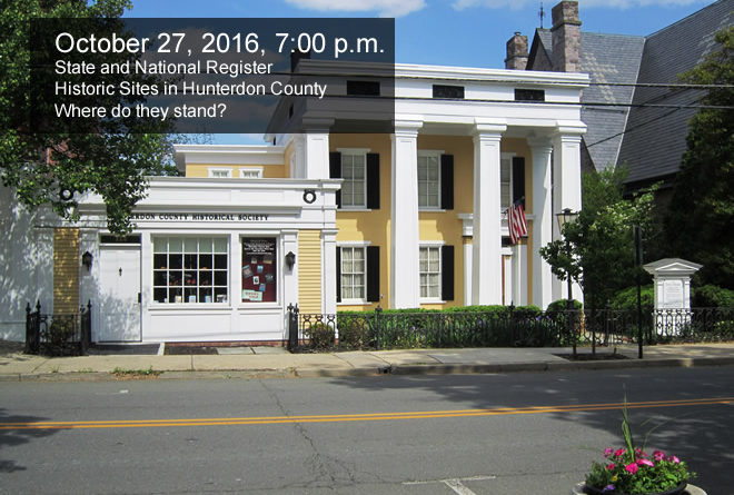October 27, 7 PM: Info Session on State & National Register Sites in HC
