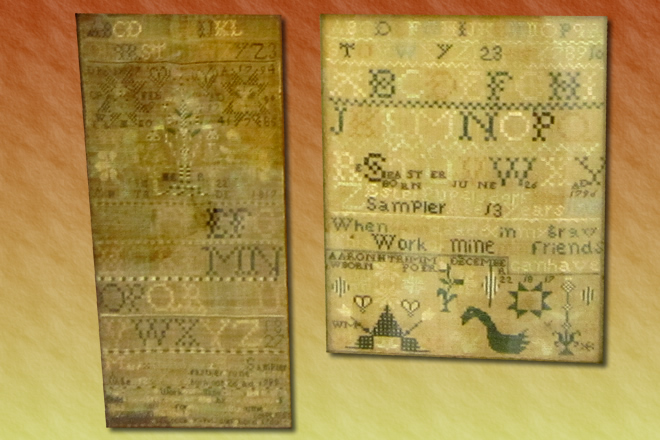 Early 1800's Scandal revealed in Needlework Samplers
