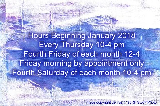 New Hours Begin January 2018