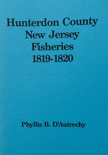 Hunterdon County New Jersey Fisheries 1819-1820