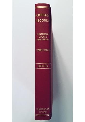 Marriage Records of Hunterdon Co., NJ